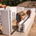 Stacking ICFs on the footings