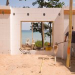 ICF Walls During Construction