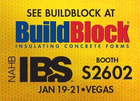 BuildBlock ICFs Exhibiting at 2016 NAHB International Builders Show Booth S2602