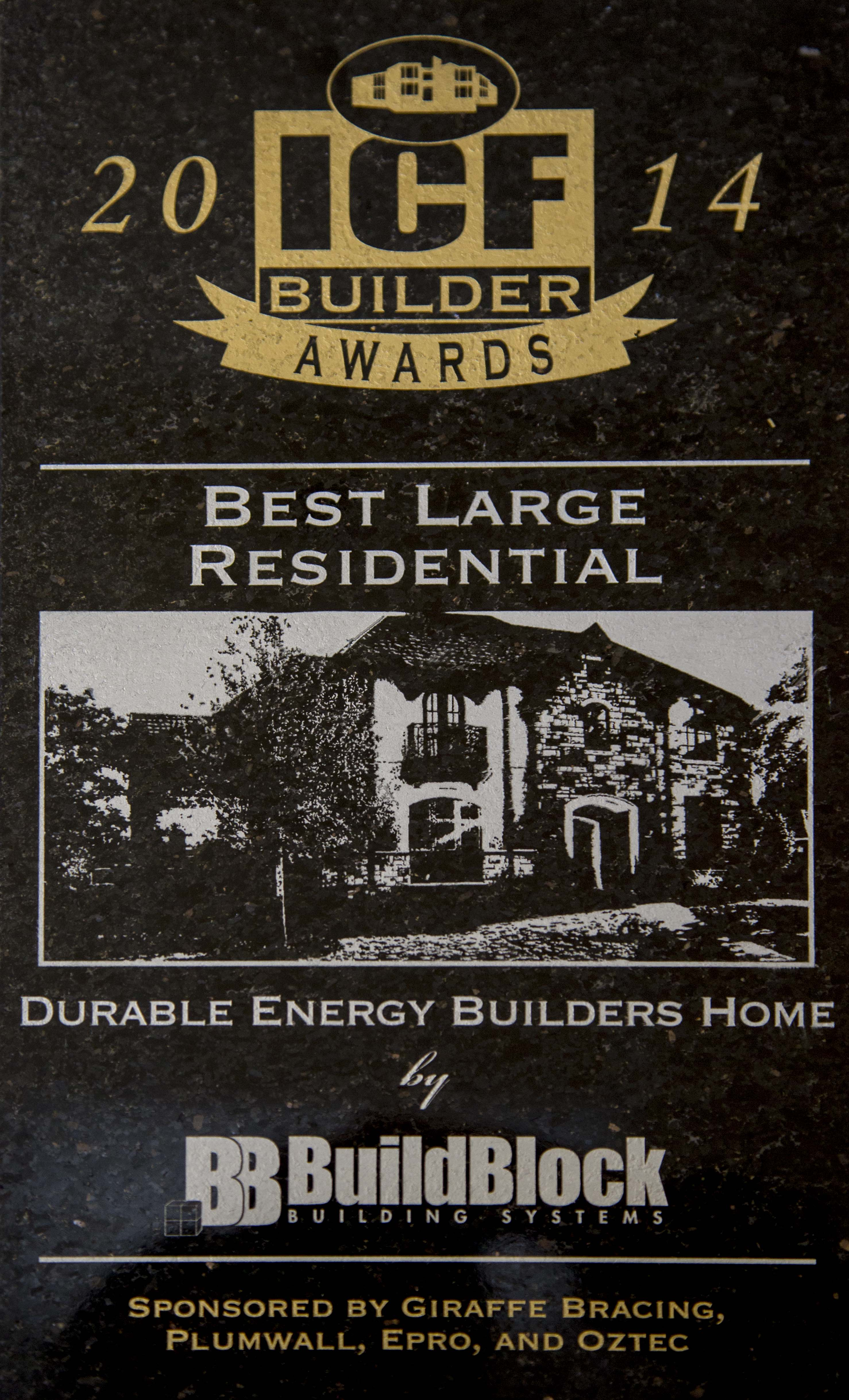 Press Release: Ker Thomson Home Wins Best Large Residential Using BuildBlock ICFs at the National ICF Builder Awards