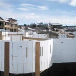 ICF walls after pour