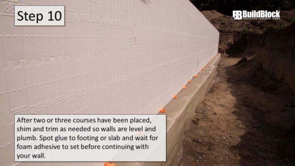 basic icf construction step 10