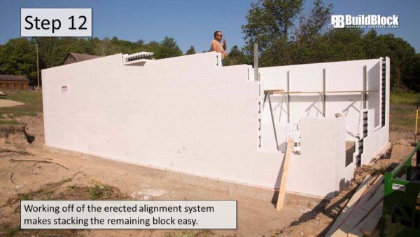 basic icf construction step 12