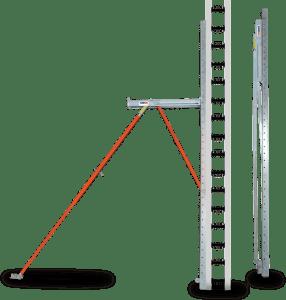 BuildBrace folded all-in-one bracing system