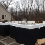 ICF walls with waterproofing membrane