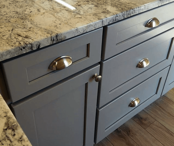 adding shelves to kitchen cabinets counters lowes stone harbor gray - builders surplus