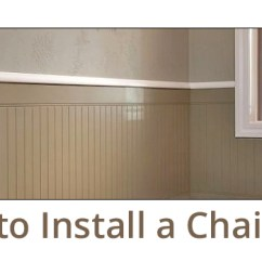 How To Install Chair Rail Wing Back Slipcover Pattern A Builders Surplus Not Only Adds Interest But Also Helps Protect Walls From Furniture Here S Guide On