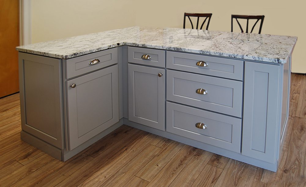 Clean Wood Kitchen Cabinets Stone Harbor Gray Kitchen Cabinets - Builders Surplus