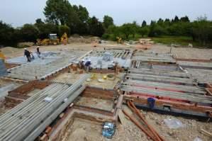Concrete block and beam floors
