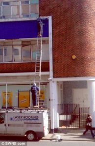 From the daily Mail, Roofer Fined for unsafe working
