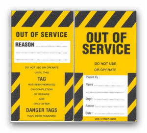 out of service tag