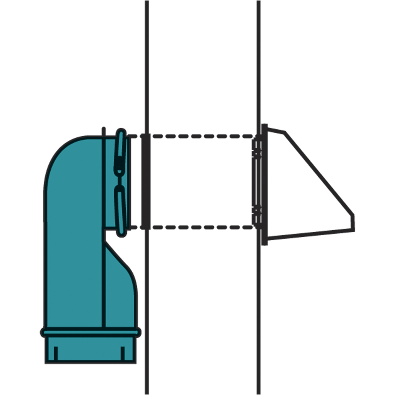 hight resolution of wall offset elbow