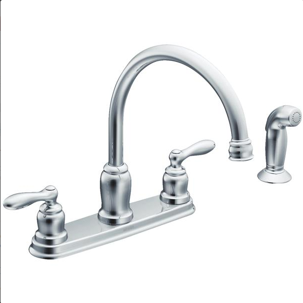 moen cladwell dual handle lever kitchen