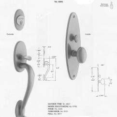 Mortise Lock Parts Diagram Simplicity 7116 Wiring Baldwin Colonial Style Solid Brass Handle Set Lexington