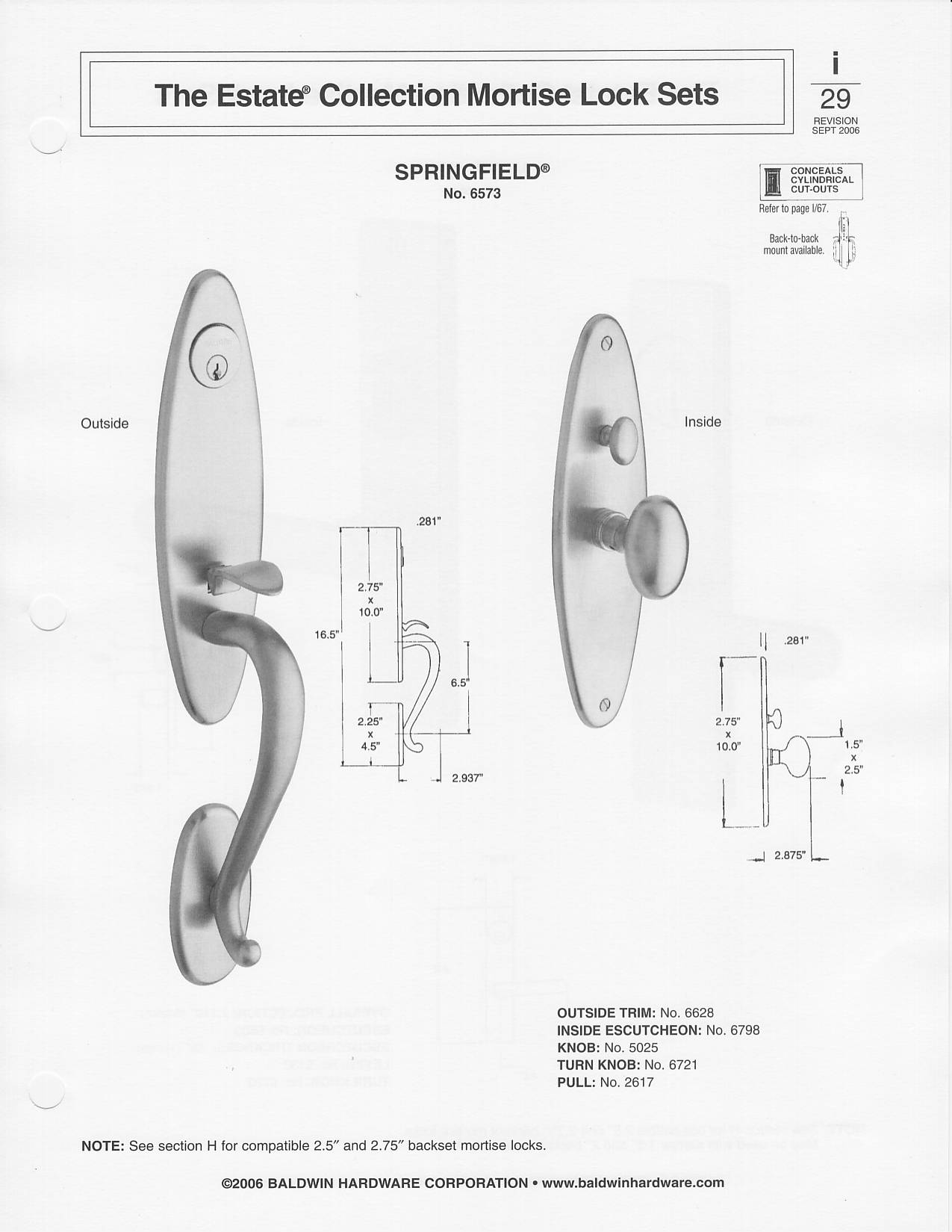 mortise lock parts diagram pioneer avic n2 cpn1955 wiring baldwin colonial style solid brass handle set springfield