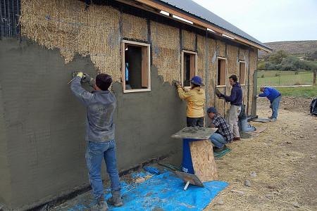 Straw Bale Construction Plastering