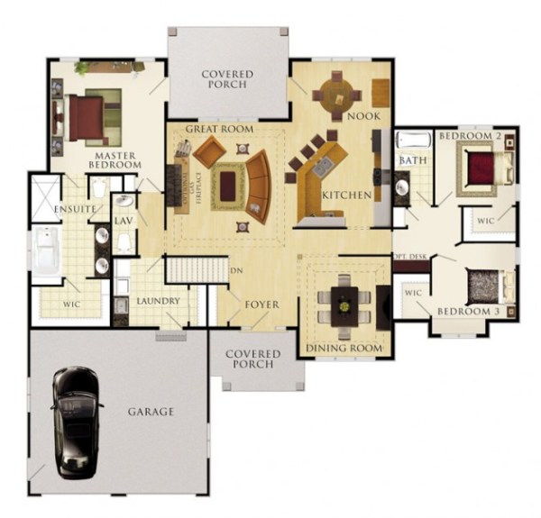 The Cobble Hill Floor Plan