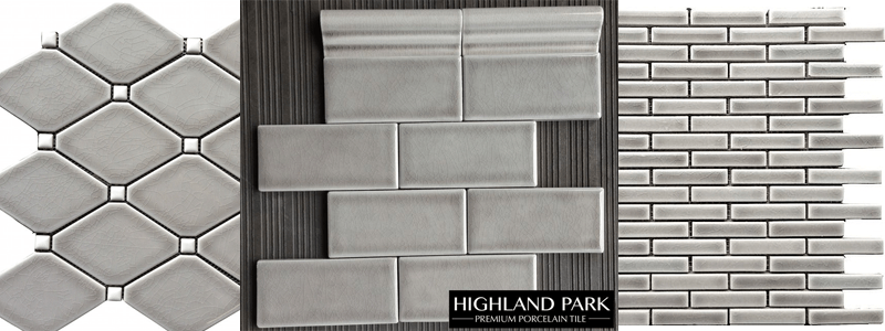 Grey Backsplash Tile highland park tile: classic beauty • builders surplus