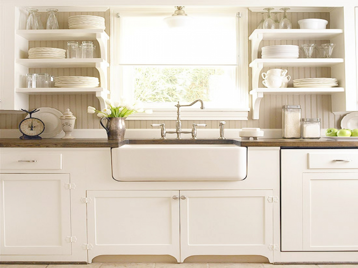 White kitchen timeless versatile and budget friendly for White rustic kitchen designs
