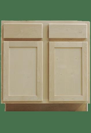 unfinished alder shaker bathroom vanities