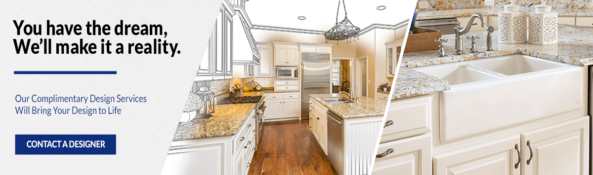 Contact A Designer Kitchen Cabinets Banner