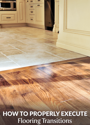 properly execute flooring transitions