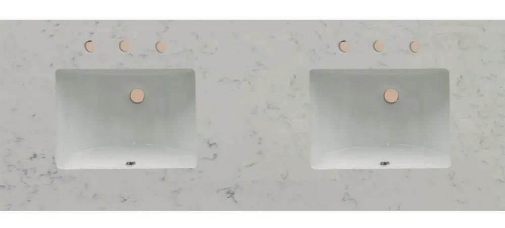 73 artisan quartz double vanity top