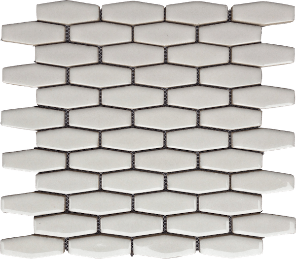 highland park antique white elongated hexagon tile