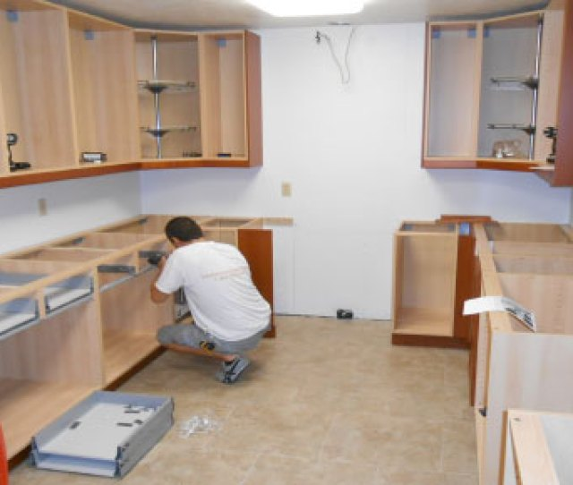 How To Install Kitchen Wall And Base Cabinets