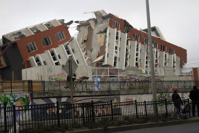 The Chile earthquake of 2010 - Though stronger than the Haiti one, its effects were less