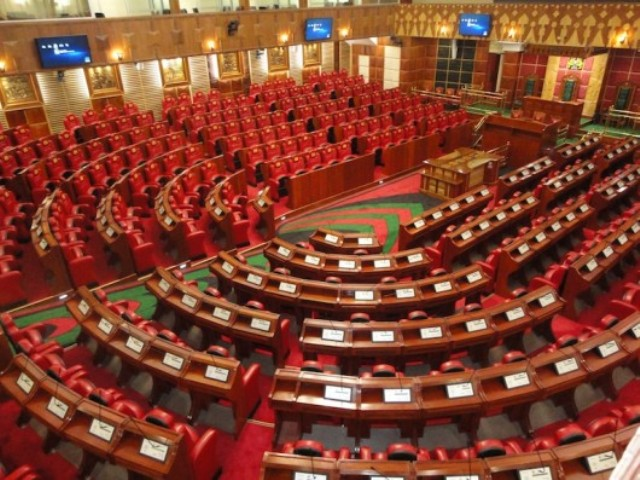 Assembly hall at the Kenya Parliament Buildings