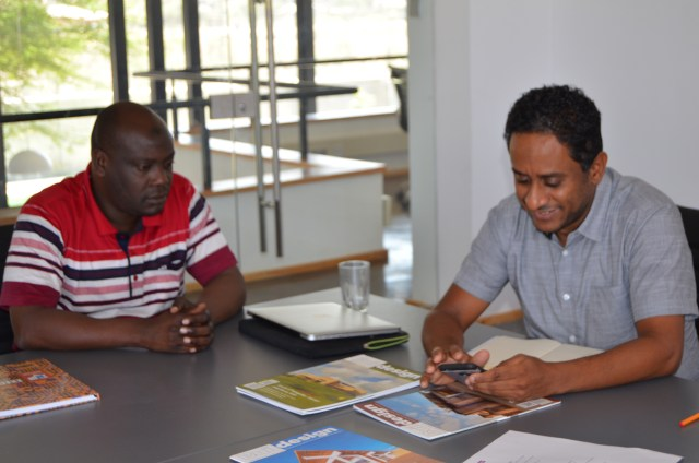 Arch. Adnan Mwakulomba (L) and Arch. Yasir Brek (R)