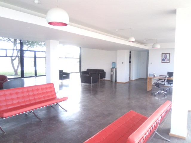 The seating area