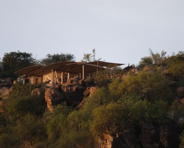 Saruni samburu sitting on Kalama mountain.