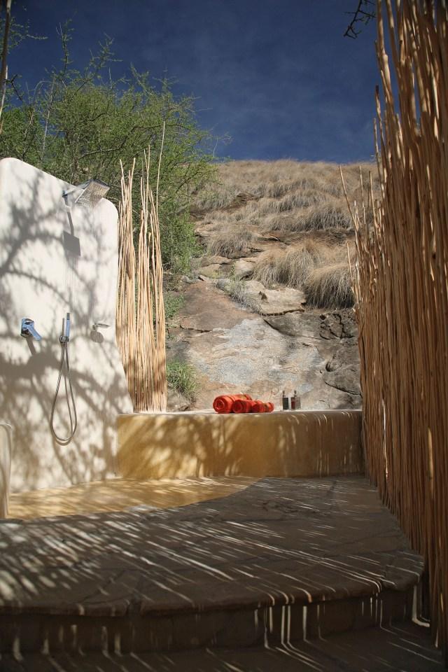 Outdoor shower saruni samburu