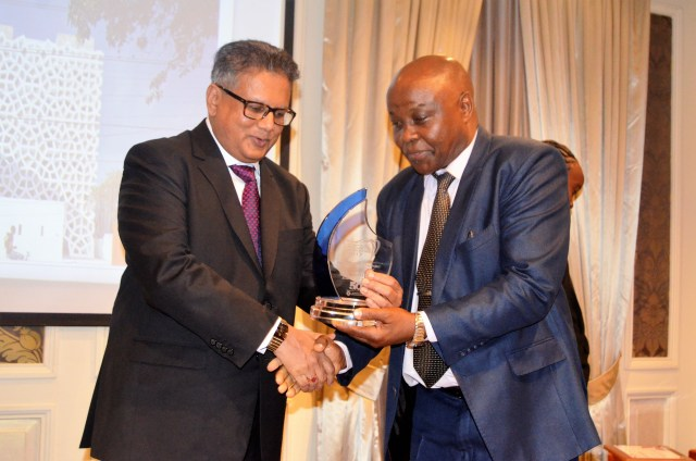 The award for best residential building project went to Swahili Gem by Urko Sanchez Architects. The award was presented by Mr.Kamlesh Shah of Basco paints and was received by Arch. Nathan Kureba O.G.W  on behalf of Urko Sanchez Architects.