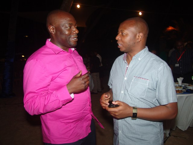 Arch. Steven Oundo in a recent event with NCA CEO Arch. Daniel Manduku