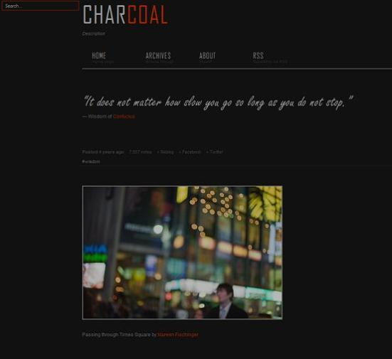 charcoal dark tumblr theme