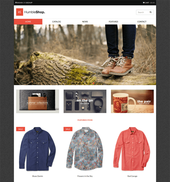 humbleshop flat shopify theme