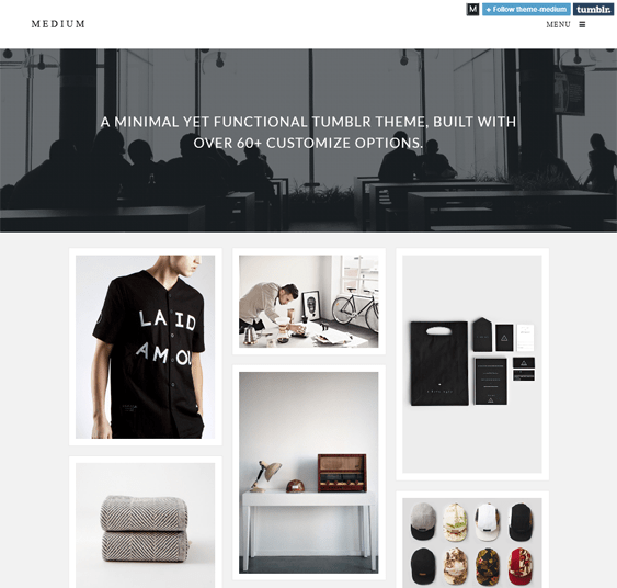 medium masonry tumblr theme