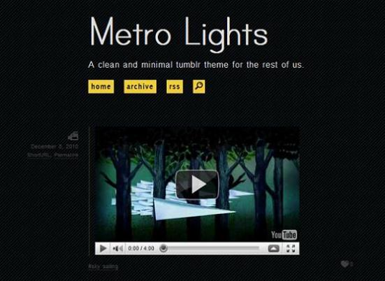 metro dark tumblr theme