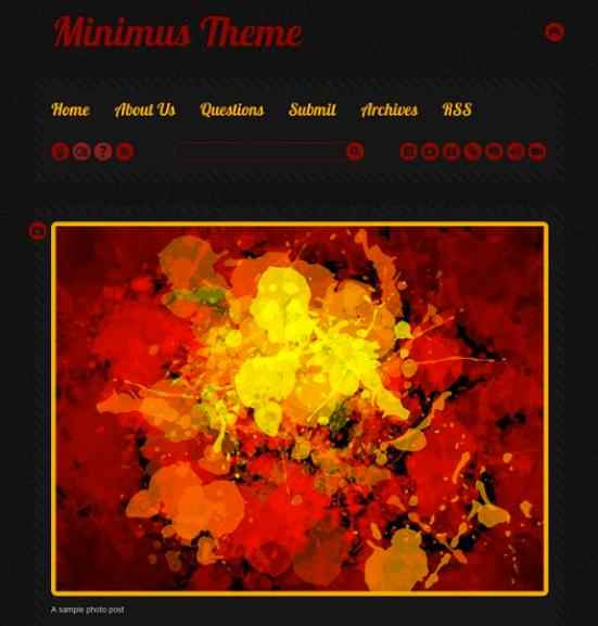 minimus dark tumblr theme