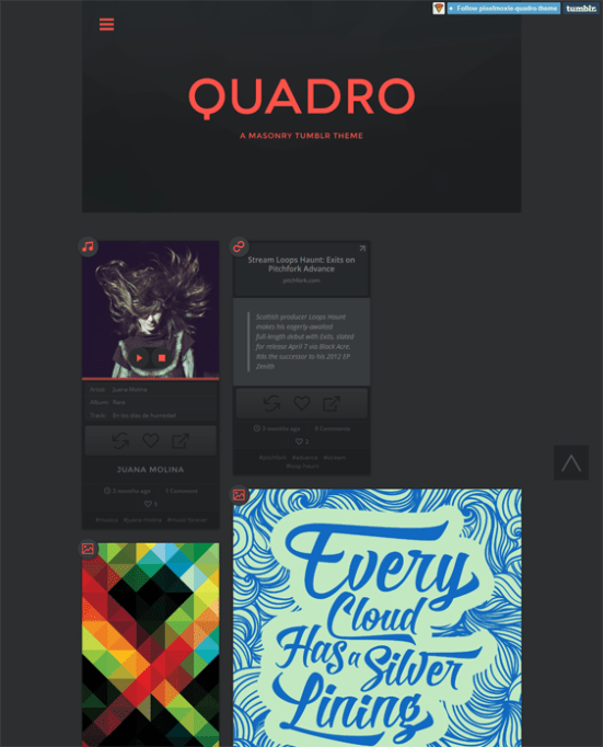 quadro dark tumblr theme