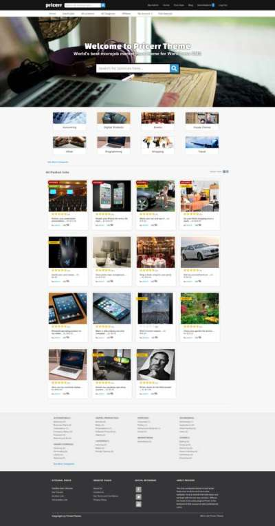 Pricerr Theme - Micro Job Theme for WordPress