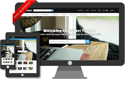 Pricerr WordPress Micro Jobs Theme (Like Fiverr)
