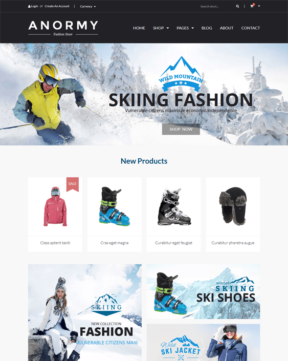 anormy parallax shopify theme