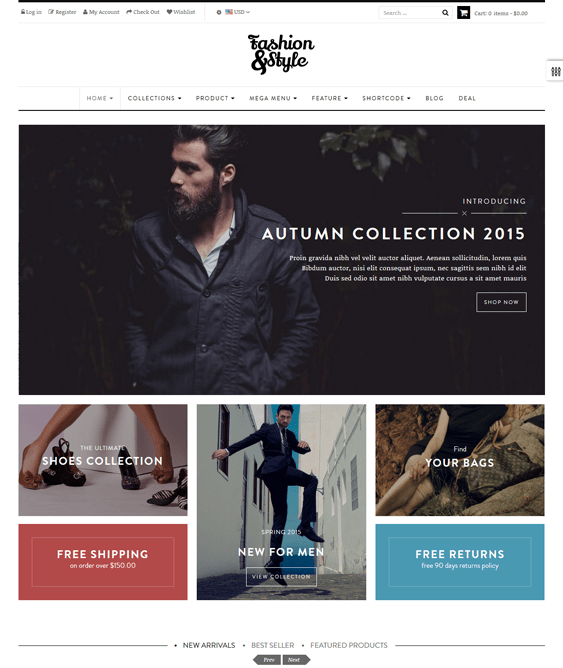 ap fashion minimal shopify theme