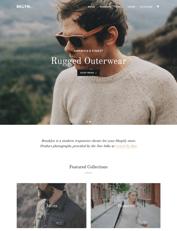 brooklyn free responsive shopify themes