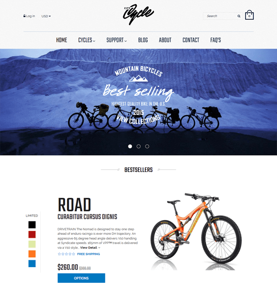 citycycle minimal shopify theme
