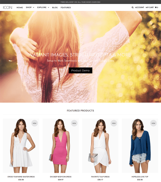 icon dolce apparel clothing shopify themes